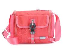 Nylon mini Junior Postman Schultertasche pink
