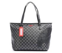 Henny Black Checkered Shopper