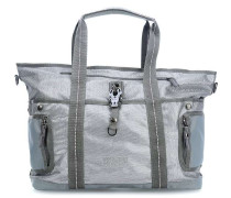 Qukoo Nylon Tin Der Ella Shopper silber