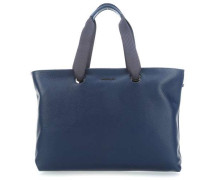 Mellow Leather Shopper navy