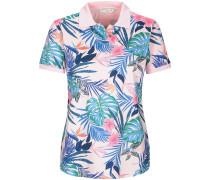 Piqué-Poloshirt mit Blätterprint