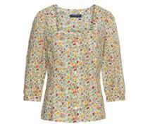 3/4-Bluse mit Blumendruck