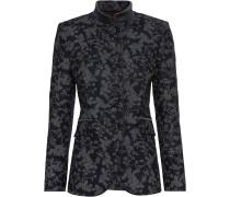 Lange Jacke mit Blumendruck