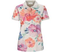 Piqué-Poloshirt mit Blumenprint