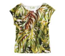 T-Shirt mit Blätterdruck