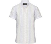Halbarm-Bluse mit Spitze
