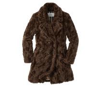 Fake-Fur Mantel