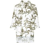 Oversized Bluse mit Blätterprint