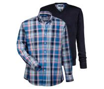Set Pullover mit Hemd