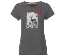T-Shirt mit Hirschdruck