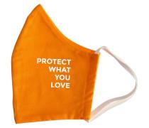 Orange Protect What You Love Mundschutz & Maske