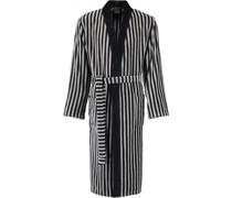 Bademantel Kimono Streifen 3833 schwarz-graphit - 97