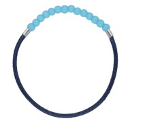 Armband Glasperle am Textilband