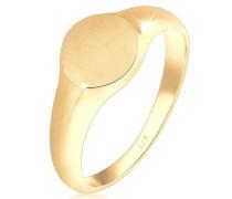 Ring Siegelring Royal Matt Geo Basic Trend 925 Silber