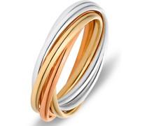 -Damenring 375er Gelbgold, Weißgold, Rotgold 52 32005713