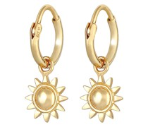 Ohrringe Creolen Einhänger Sonne Strahlend 925 Silber