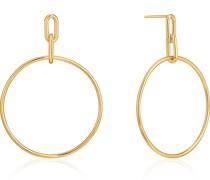 -Ohrhänger Cable Link Hoop 925er Silber One Size 87994406
