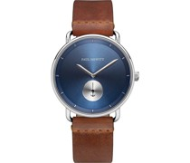 -Uhren Analog Quarz Braun/Blau 32010527