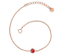 Armband Sterling Silber rosévergoldet Granat