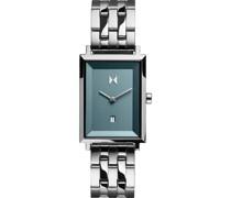 -Uhren Analog Quarz Silber/Blau 32014832