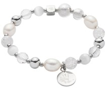 -Armband Edelstahl/Perle/Glas One Size 87565238