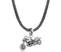 Halskette Schlangenkette Motorrad Anhänger 925 Silber