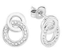 Ohrring für, 925er Sterling Silber rhodiniert Weiß