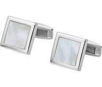 -Manschettenknöpfe 925er Silber Perlmutt One Size 87396053