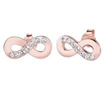 Ohrringe Infinity Symbol Liebe Kristalle Silber