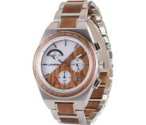 -Uhren Analog Solar One Size Holz 88139402