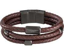 Unisex-Armband Leder Braun 32015084