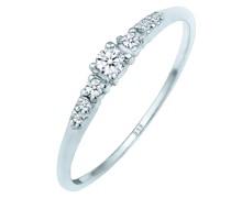 Ring Verlobungsring Diamanten (0.11 ct) 585 Weißgold