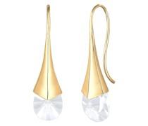 Ohrringe Vintage Hänger Kristalle 925 Silber