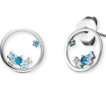 -Ohrstecker 925er Silber Zirkonia Silber/Blau 32012673