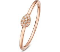 -Damenring 375er Roségold 12 Diamant 58 32003906