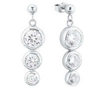 Ohrring für mit weißen Zirkonia , 925er Sterling Silber weiß