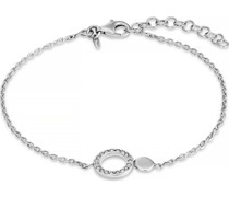 -Armband 925er Silber rhodiniert 19 Zirkonia One Size 87760961