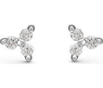 -Ohrstecker 375er Weißgold 6 Diamant One Size 87492621