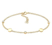 Armband Kreis Plättchen Swarovski® Kristalle 925 Silber