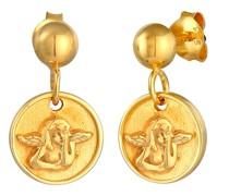 Ohrringe Ohrhänger Stecker Plättchen Engel 925 Silber