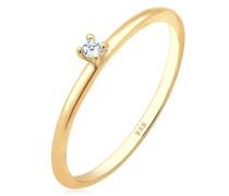 Ring Verlobung Solitär Diamant (0.015 ct.) 585 Gelbgold