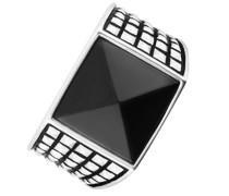 -Herrenring 925er Silber 1 Onyx 62 32005238