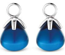-Ohrringe 925er Silber Kristall Blau 32013844