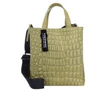 Paper Bag S Croco Handtasche Leder 22 cm