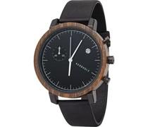 -Uhren Analog Quarz Grau Grau Leder 32001377