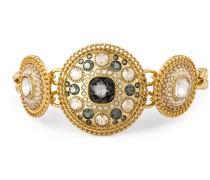 Armband Metall Glas gelbgold