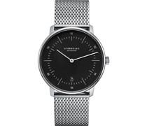 -Uhren Analog Quarz Silber/Schwarz Edelstahl 32011801