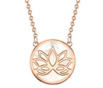 Halskette Lotusblume Sterling Silber Perlmutt roségold