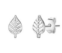 Ohrstecker Blatt Sterling Silber silber