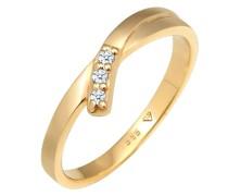 Ring Verlobungsring Diamant (0.04 ct.) 585 Gelbgold